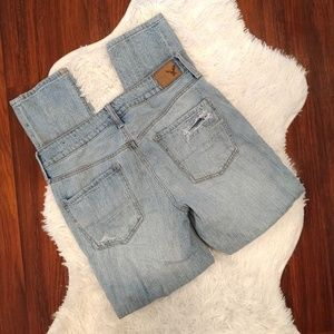 American Eagle Outfitters Jeans - American Eagle Tomgirl Distressed Light Wash Jeans